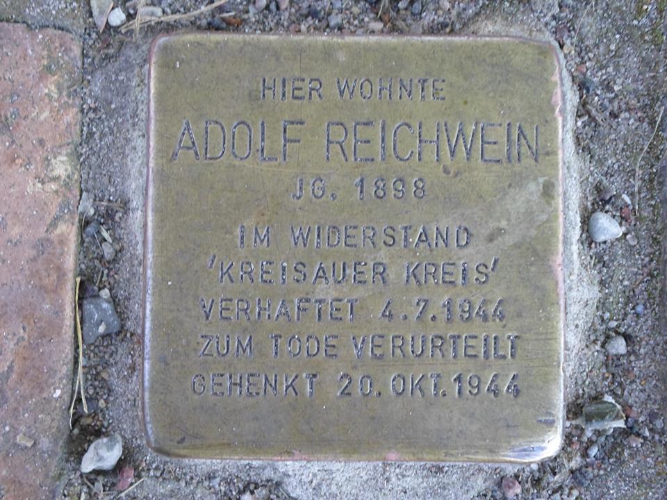 stolperstein reichwein Hiddensee