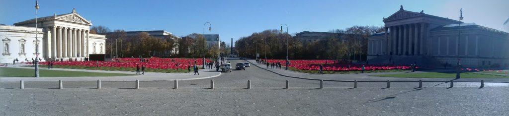 Königsplatz Waffenstillstands-Blumen